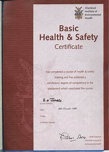 certificate template With health and safety certificate template