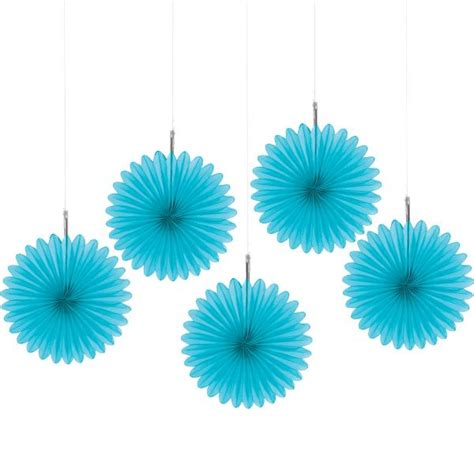 paper fans party city caribbean blue mini paper fan decorations 5ct