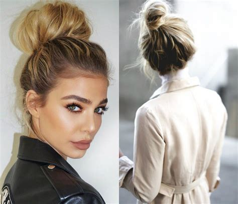 perfectly imperfect top knots hairstyles hairdromecom