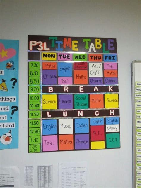 Classroom Timetable Display  Google Search  Classroom Decorations  Pinterest Classroom