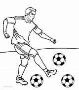Football Coloring Player Pages Printable Cool2bkids sketch template