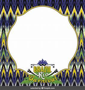 Brazil Rio Carnival frame Vector | Free Download