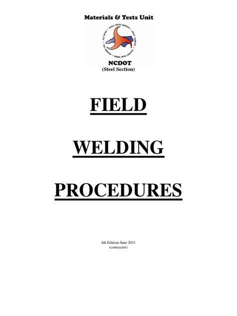 Field Welding Procedures Manual - Contractor Version