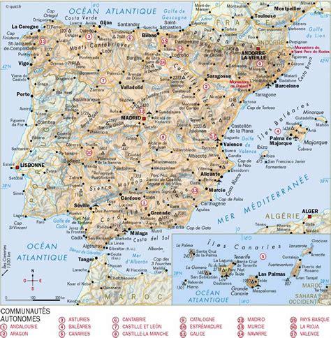 Carte D Espagne Avec Villes by Ville D Espagne Voyages Cartes