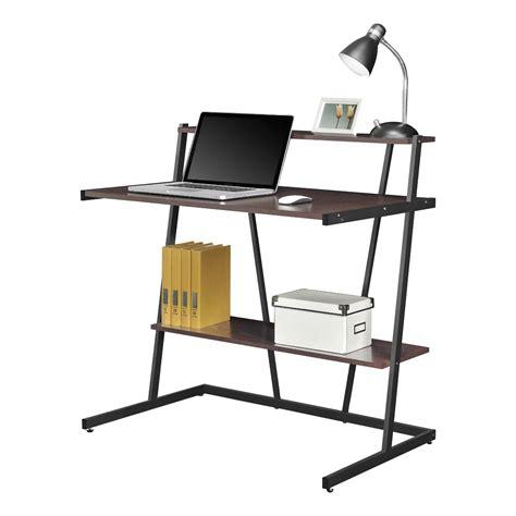 black computer desk with shelves altra cherry and black small computer desk with shelf 9391096