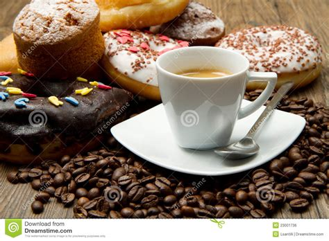 Coffee And Donuts Royalty Free Stock Image   Image: 23001736