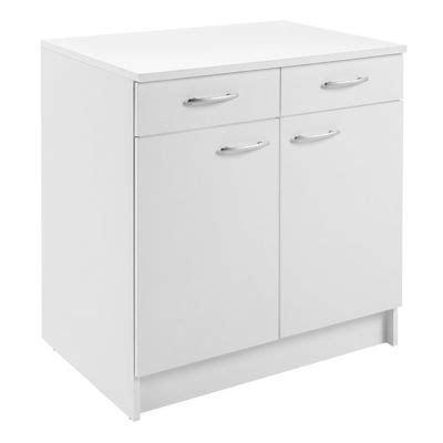 meuble bas cuisine hauteur 80 cm meuble cuisine bas 2 porte 2 tiroir 80 cm blanc primalight
