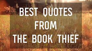 Best Quotes From The Book Thief By Markus Zusak Youtube