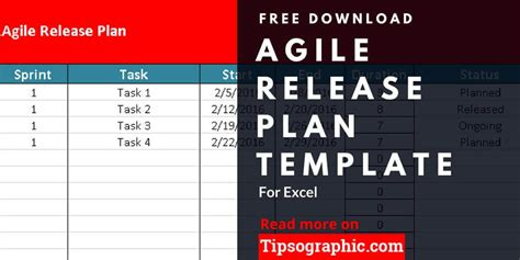 agile release plan template  excel
