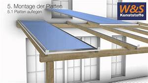 Dach Trapezblech Verlegung : montageanleitung von stegplatten mit schraubprofilen youtube ~ Whattoseeinmadrid.com Haus und Dekorationen