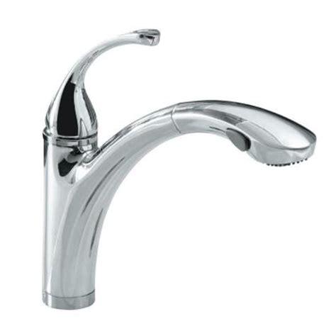 forte kitchen faucet kohler forte single hole and three hole single handle kitchen faucet in polished chrome k r10433
