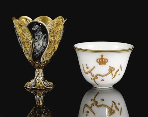 Even in the days of the ottoman empire, coffee was known to be intellectually stimulating. date unspecified An Enamelled gold zarf, Made for the Ottoman market, Switzerland, 19th Century ...