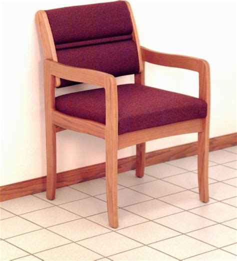 solid wood arm chair w soft upholstered seat