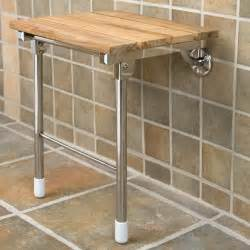 Folding Teak Shower Seat by Teak Folding Shower Seat With Legs Ebay