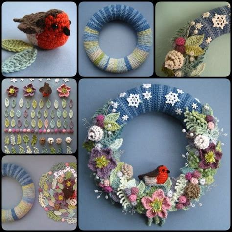 diy crochet wreath step  step usefuldiycom