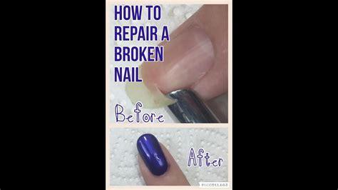 repair  broken nail  silk wraps youtube