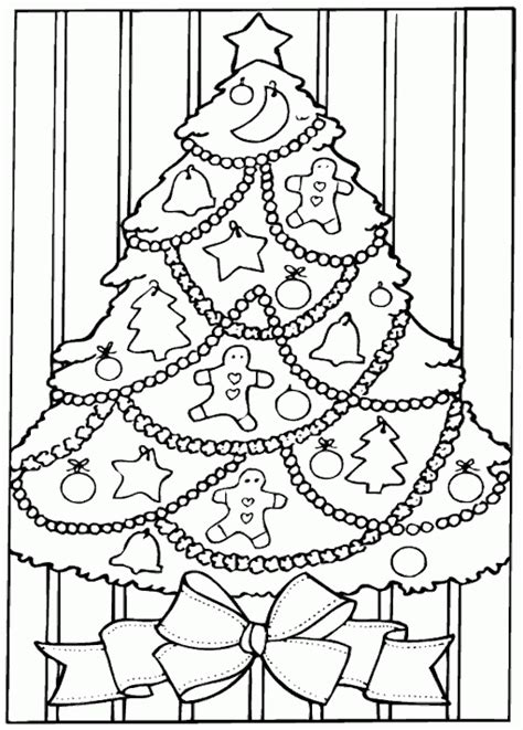 christmas tree coloring pages coloringpagescom