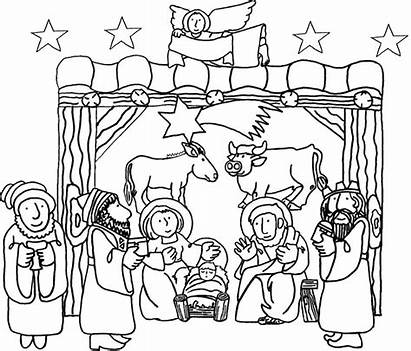 Jesus Birth Coloring Pages Christ Lds Coloringhome
