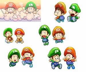 Supper Mario Broth - Art of Baby Mario and Baby Luigi from ...