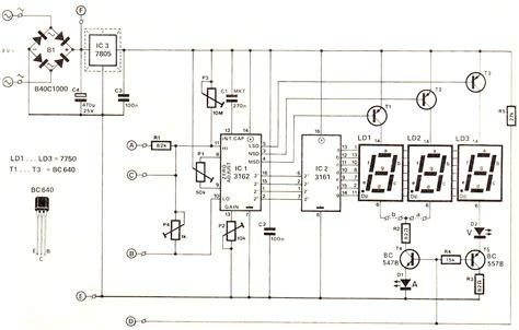 Digital Voltmeter Ammeter Circuit Module Under