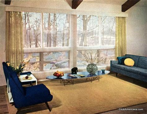 stylish vintage window coverings   fifties