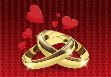 wedding rings vector vector art graphics freevector com