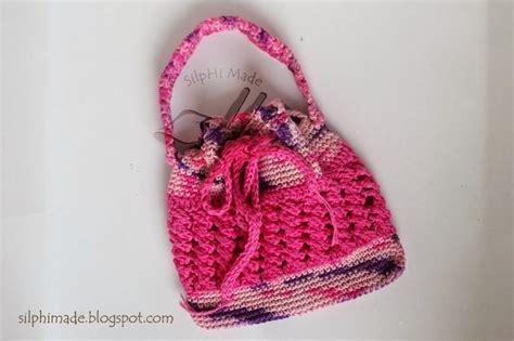 tas rajut crochet drawstring purse tas rajut anak