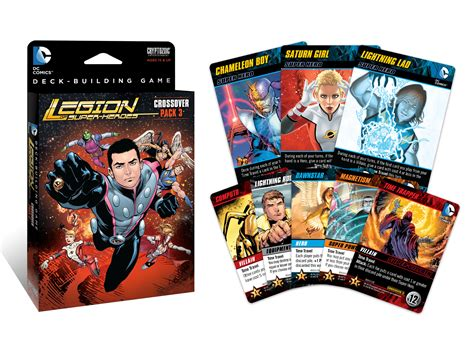 dc comics deck building crossover pack 3 legion of heroes is now available