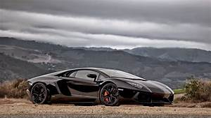 3 Black Lamborghini Aventador Wallpapers On the Mountain ...