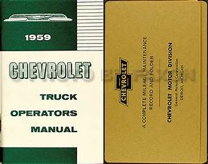 1959 Chevrolet Truck Wiring Diagram Manual Reprint