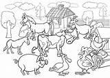 Coloring Farm Scene K5worksheets Worksheets K5 sketch template