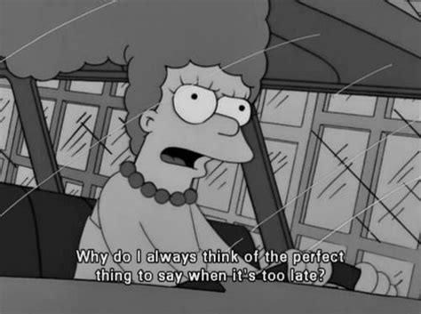 black  white life text quotes words   simpsons