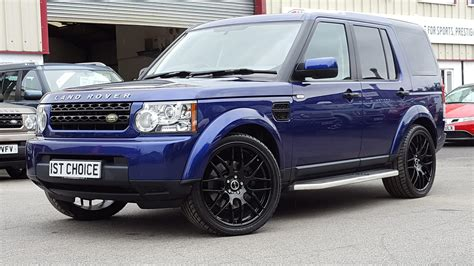 range rover dark blue used 2010 land rover discovery 4 tdv6 gs bali blue black