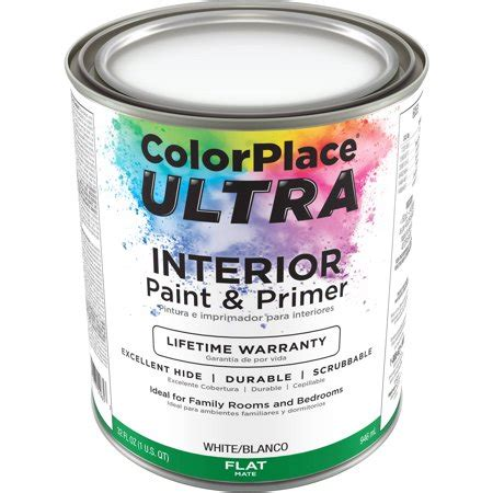 color place ultra flat interior white paint and primer 1