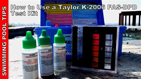 How To Use A Taylor Complete Fasdpd Pool Water Test Kit K