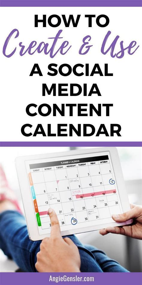 How to Create and Use a Social Media Content Calendar ...