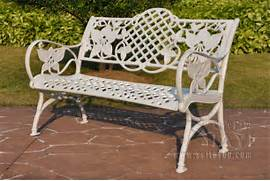 Outdoor Patio Furniture With Bench Seating by Cast Aluminum Patio Furniture Garden Furniture Outdoor Furniture Bench Park C