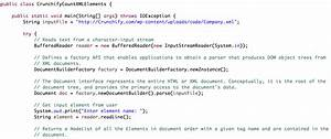 simple way to count number of xml elements in java o crunchify With xml documents in java
