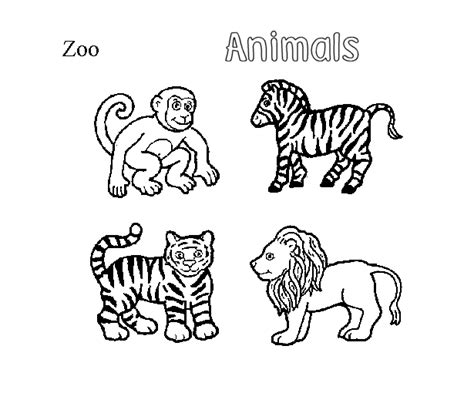 Coloring Animal Pictures by Free Animals Coloring Pages Zoo To
