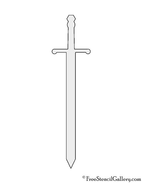 sword template sword stencil free stencil gallery
