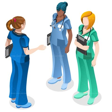 medical nurse education doctor training vector isometric