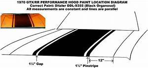 1970 Plymouth Gtx Road Runner Hood Blackout Paint