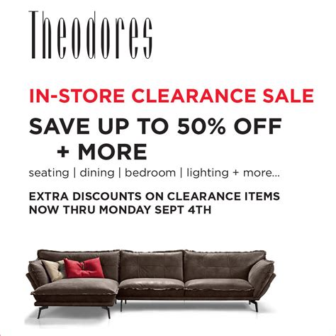 in store clearance sale theodores