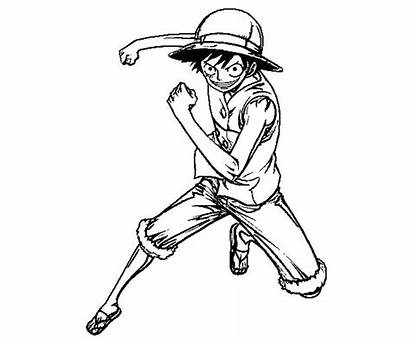 Luffy Monkey Coloring Pages Random Printable