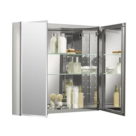 lowes canada bathroom medicine cabinets kohler 30 in x 26 in rectangle recessed aluminum medicine