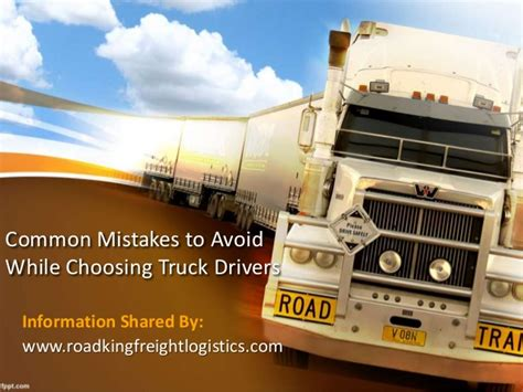 choosing mistakes avoid drivers common while truck slideshare