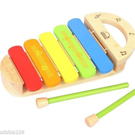 preschool musical instruments new hape rainbow xylophone wooden infant toddler preschool 224