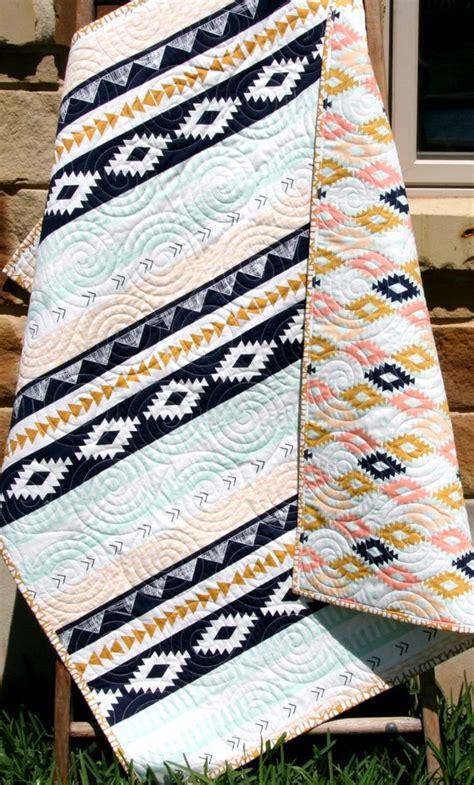 aztec crib bedding tribal baby quilt modern bedding aztec by