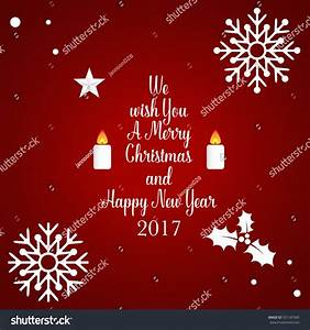 Merry Christmas Happy New Year 2017 Stock Vector 531187585 ...