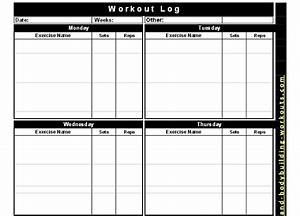 free printable workout log free download aashe With bodybuilding excel template